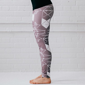 Leggings origami TAUPE chats MAI