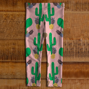 Leggings cactus ananas rose enfants MAI