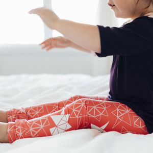 Leggings Origami Rose ENFANTS